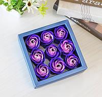 Подарунковий набір SUNROZ Soap Flower троянд з мила 9 шт Набір 5 (SUN3088)