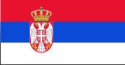 Флаг Сербии 0,9х1,35 м. атлас