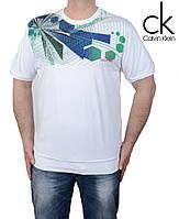 Белая мужская футболка.Большие размеры футболок.