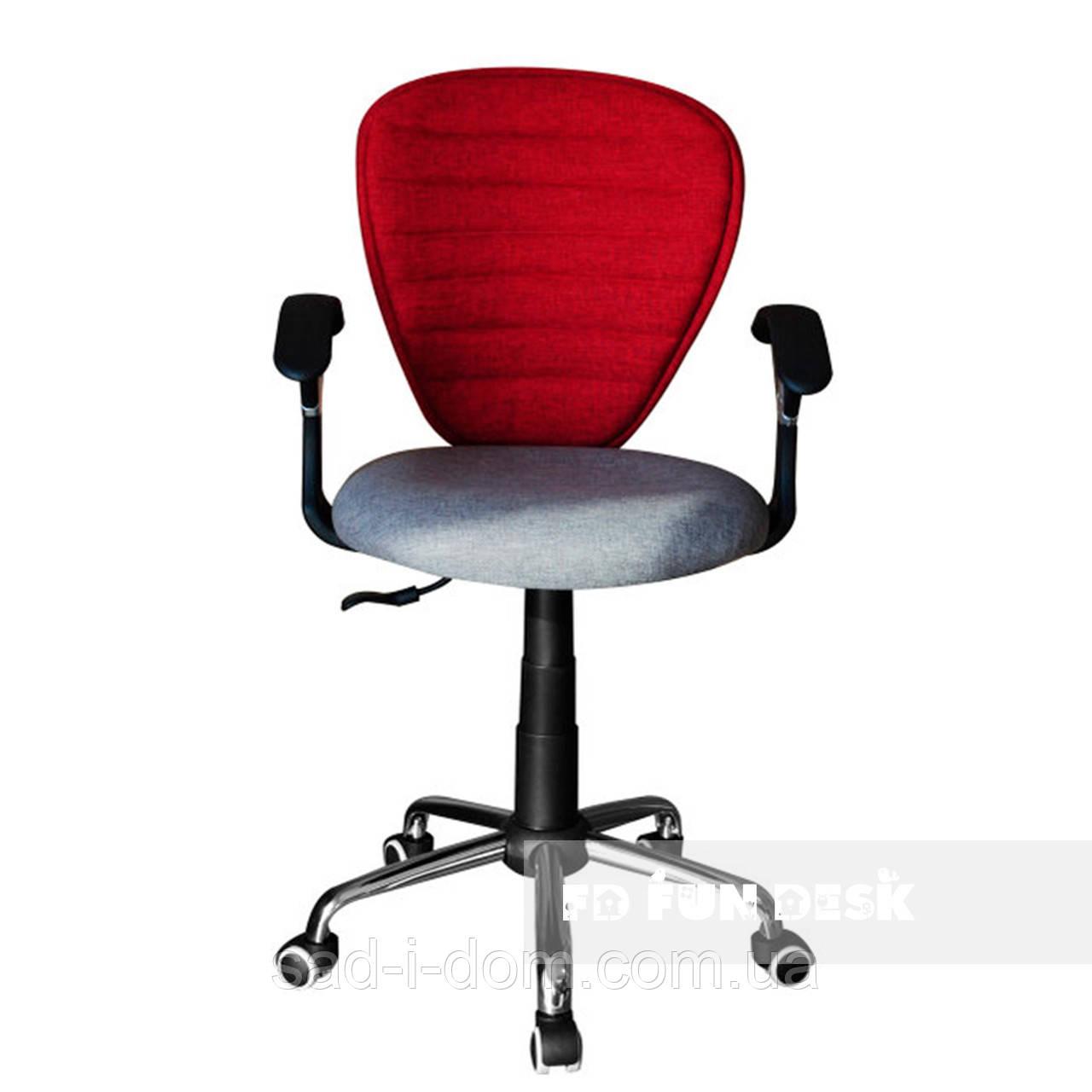 Детское компьютерное ортопедическое кресло FunDesk LST7 серо-красное