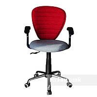 Детское компьютерное ортопедическое кресло FunDesk LST7 серо-красное, фото 1