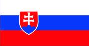 Флаг Словакии 0,9х1,35 м. атлас