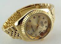 Мужские часы Rolex Oyster Perpetual цвет циферблата золотистый
