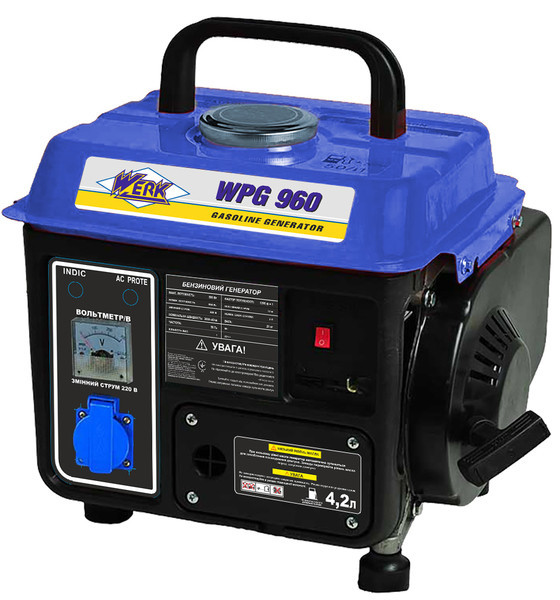 Генератор бензиновий 650 Вт однофазний Werk WPG960