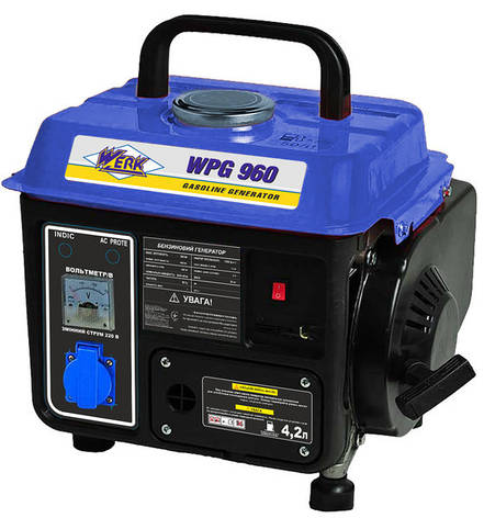 Генератор бензиновий 650 Вт однофазний Werk WPG960, фото 2