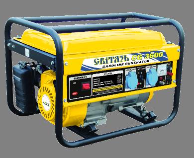 Генератор бензиновый 2,5 кВт однофазный Свитязь CG3600