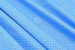 """Ткань хлопковая """"Густой горошек 2 мм"""" на тёмно-голубом фоне, №1854а, фото 4"""