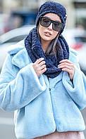 Комплект №227 букле шапка+ шарф-хомут, фото 1