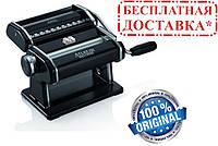 Паста-машина для приготовления лапши и нарезки теста (лапшерезка) Marcato Atlas 150 Nero, черная, фото 1