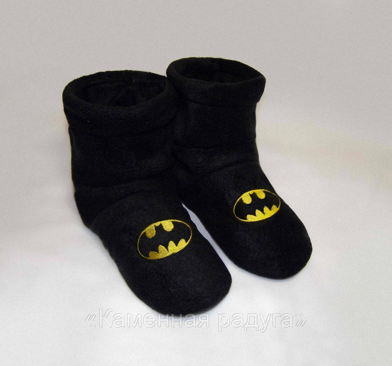 """Мужские домашние тапочки-сапожки """"Бэтмен"""""""