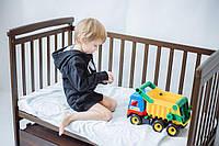 """Кроватка трансформер детская для новорожденных DeSon """"Дитячий Сон"""" Лодочка с ящиком, орех"""