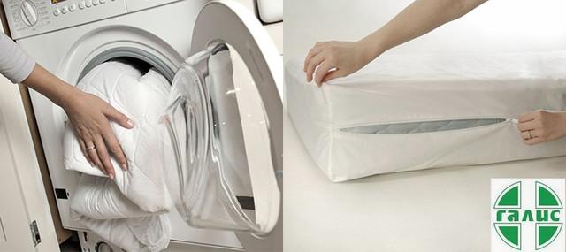 Уход за защитным чехлом на матрас и подушку