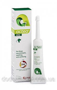 Краплі вушні для лікування отиту у кішок і собак Candioli Actea Oto 15 мл