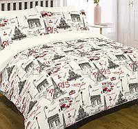 Комплект постельного белья Viluta, двуспальный 220х200 100% хлопок Париж,