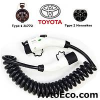 Зарядный кабель Toyota Prius Plug-in Hybrid Type1 (J1772) - Type 2 (32A - 5 метров), фото 1