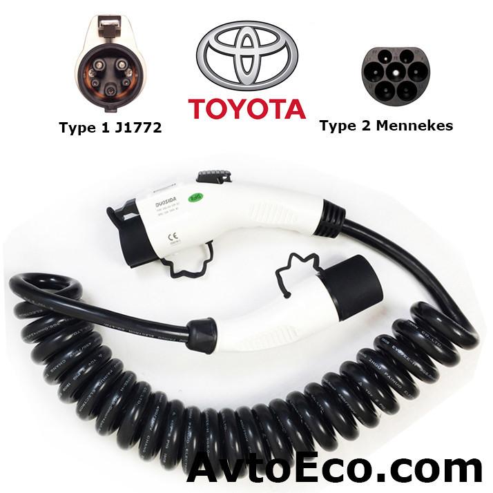 Зарядный кабель Toyota Prius Plug-in Hybrid Type1 (J1772) - Type 2 (32A - 5 метров)