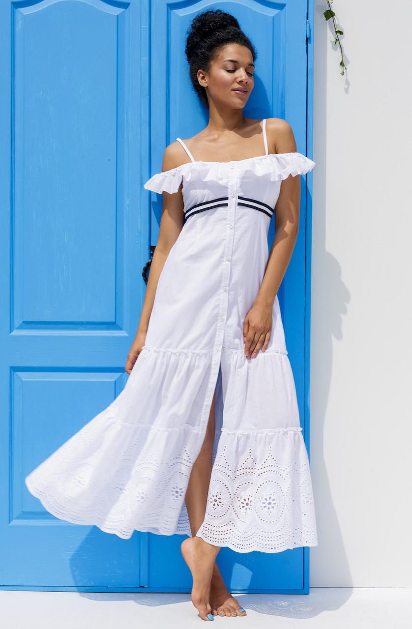 Длинное пляжное платье Ora 19010/2, хлопок