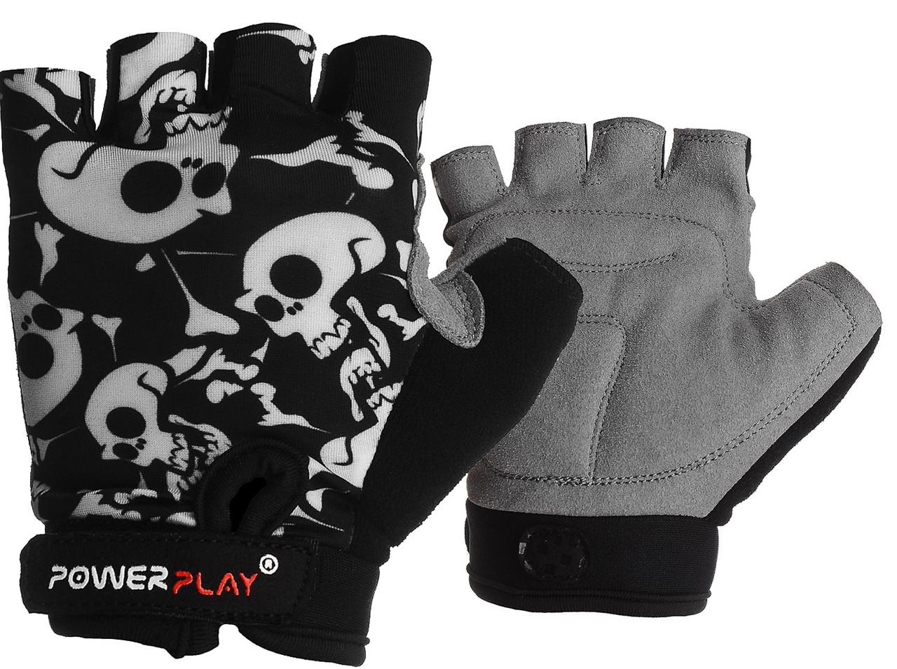 Велорукавички PowerPlay 5455 Чорні XS