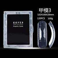 Пластиковые формы для верхних типс Koper, 140 штук в упаковке
