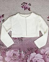 Детское трикотажное  болеро р. 116-134 белое, фото 1