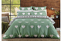Двухспальный постельный комплект MINT LOVE HEARTS, BalakHome Ranforce