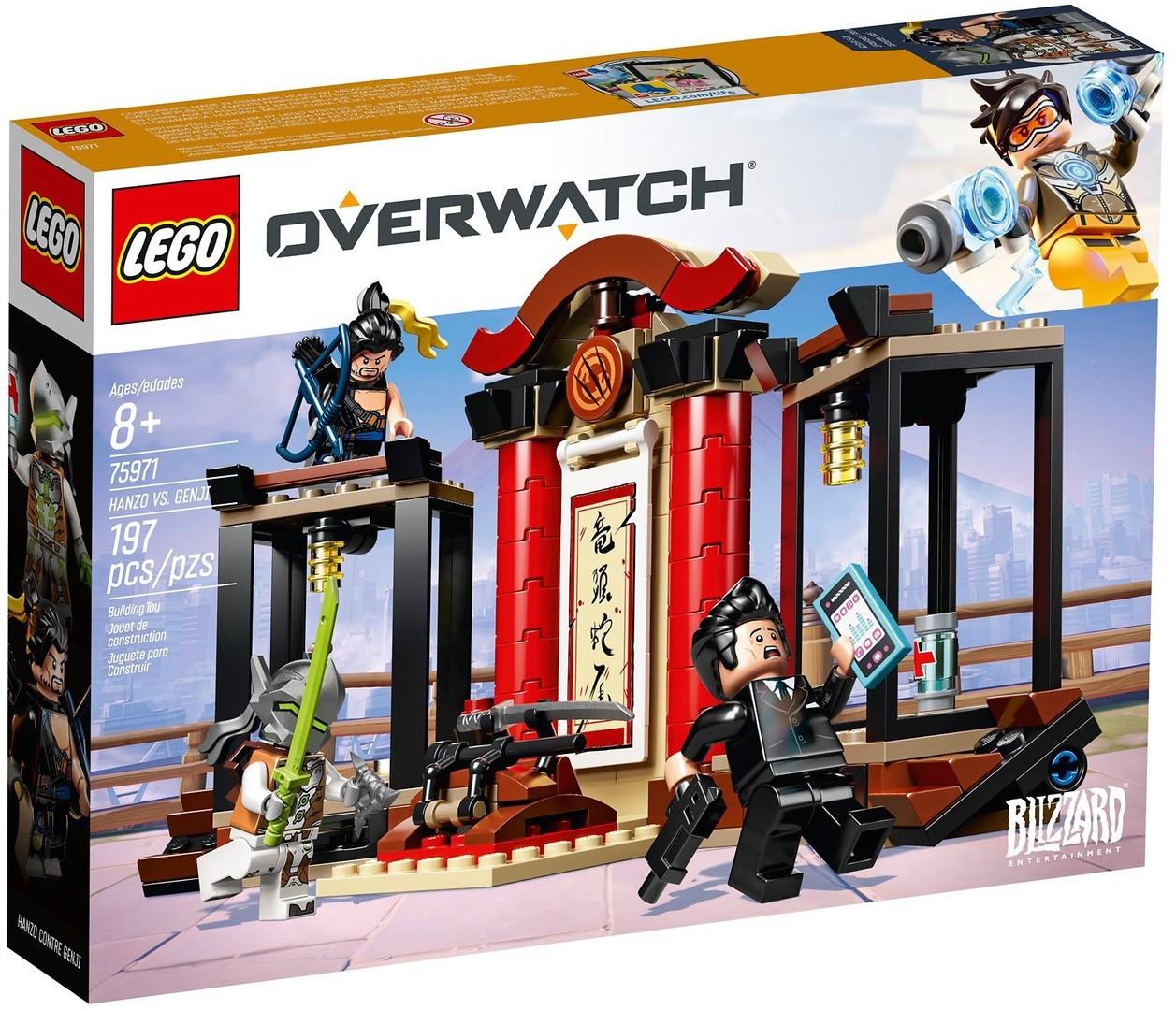 Lego Overwatch Хензо против Гэндзи 75971