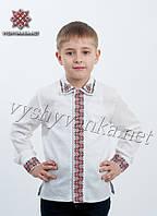Детская вышиванка с рубашечным воротником, арт. 4406