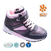Утепленные высокие кеды-ботинки для девочки Bi&Ki