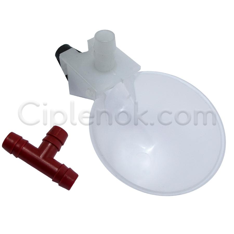 Микрочашечная поилка круглая с 1 патрубком