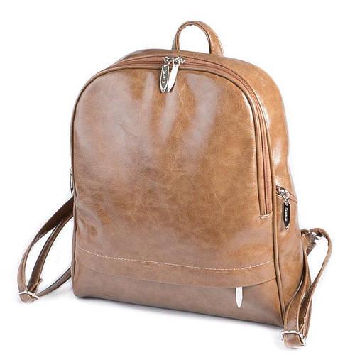 ff9a9d06a9df Кофейный женский рюкзак М179-15 на молнии вместительный городской: продажа,  цена в Днепре. рюкзаки городские и спортивные от