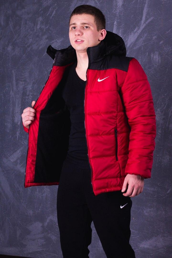 62ef8ad8 Мужская Весенняя Куртка Nike Красно-черная Качественная Турецкая Куртки  Мужские Фирменные - Shopmann - Магазин