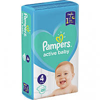 Подгузники Pampers Active Baby Размер 4 (9-14кг), 49шт