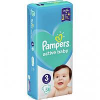 Подгузники Pampers Active Baby Размер 3 (6-10кг), 58шт