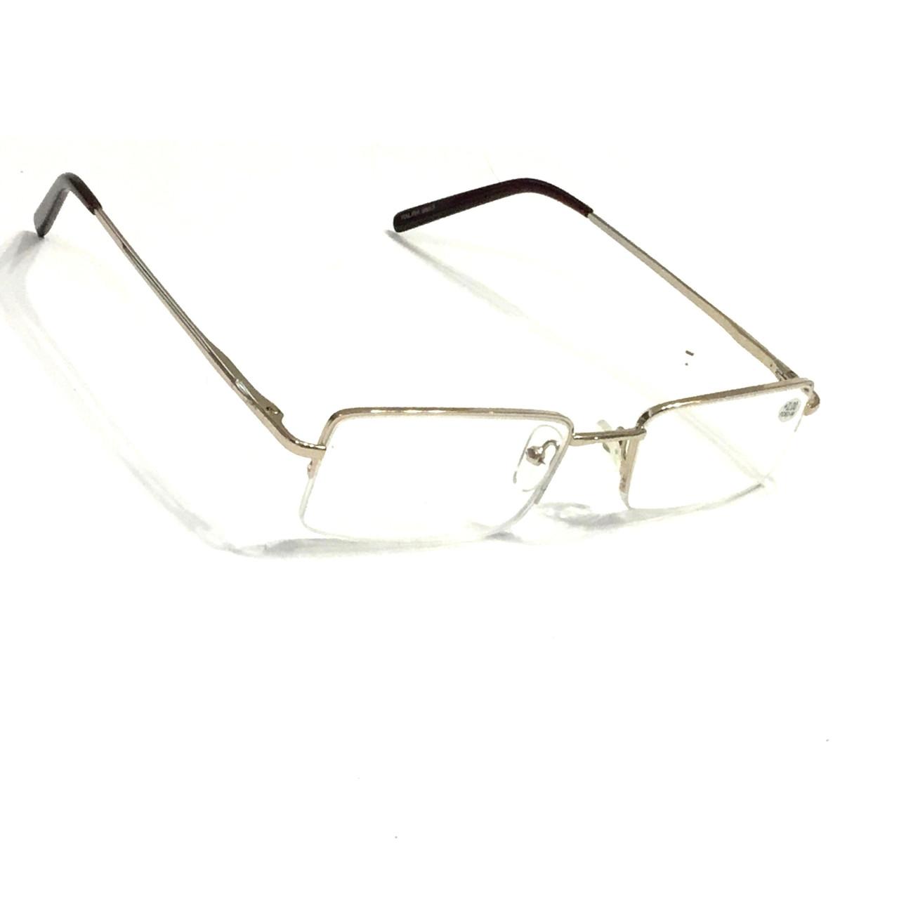 Полуоправные очкис белой линзой