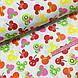 Ткань польская хлопковая, фрукты микки-маусы на белом, фото 3