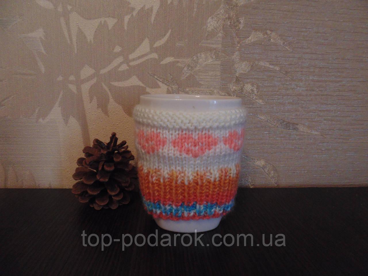 Вязанная грелка для чашки Любимой
