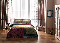 ТАС Digital евро комплект постельного белья сатин Lona green