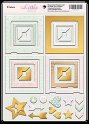 Рамки из чипборда с фольгированием (золото) для скрапбукинга 30шт Little Bunny от Scrapmir