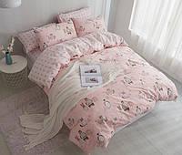 Хлопковый комплект постельного белья для девочки  Лесные животные (полуторный)