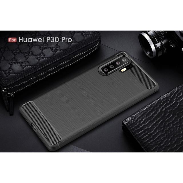 чехол Huawei P30 Pro накладка carbon fiber черный