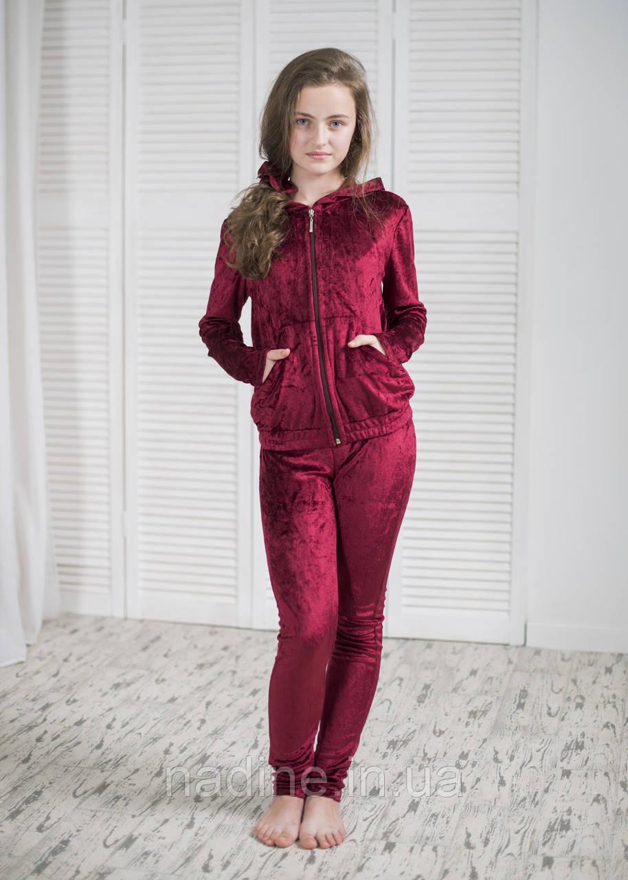 Спортивный Велюровый костюм Eirena Nadine (856-46) 146/36 Бордовый