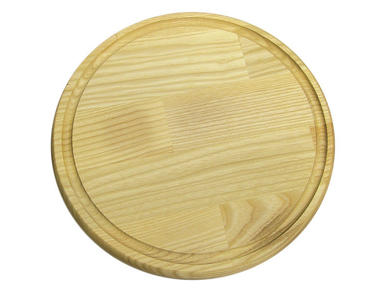 Доска разделочная круглая со сточным желобком Ø240*20 мм ДП 240