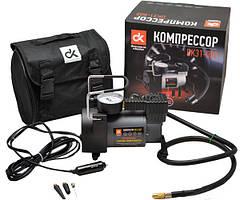 Компрессор для накачивания шин 12V, 10Атм, 35л/мин, прикуриватель ДК,DK31-002