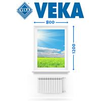 Німецьке Вікно VEKA, (800*1200 см.), глухе, Ромни, фото 1