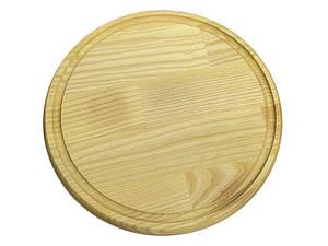 Дошка обробна кругла зі стічних жолобком Ø260*20 мм ДП 260