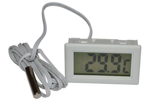 Термометр цифровой TPM-10 кабель 1м белый