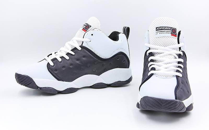 Обувь для баскетбола мужская Jordan OB-3038-2, черный-белый (р. 42)