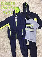 Трикотажный костюм 3 в 1 для мальчика оптом, S&D, 134-164 см,  № CH-5548, фото 1