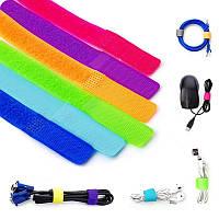 Нейлоновая стяжка липучка для кабелей многоразовая