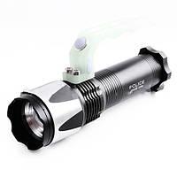 Светодиодный переносной фонарь-светильник police kd810, 100% и 50% яркости, стробоскоп, насадка-рассеиватель